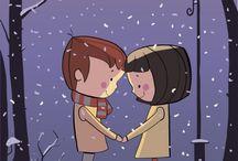 фонарь зима