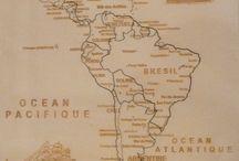 Puzzle géographique artisanal Carte Amérique du Sud