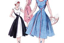 1950s Sewing Patterns / Last week during episode 3 of The Great British Sewing Bee, we saw the contestants complete their own version of the walk-away dress. Here are some of our favourite pattern designs of the 1950s to 'pinspire' our favourite home sewers.
