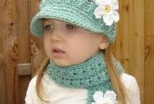 childs scarf and hat crochet