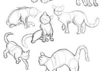 Cats and beasts drawing