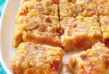 upside down rhubarb cake
