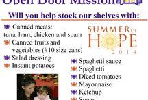 Urgent Needs at Open Door Mission