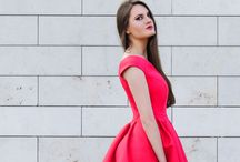 The Cherry Red Dress / The Cherry Dior Dress, Lipstick Cherry Red Dress to wear to a wedding as a guest
