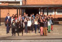 Intercambio Hinojosa-Nimes / Actividades de acogida en la Biblioteca Escolar del IES Jerez y Caballero.