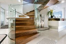 Glass Staircases / Bent & Tempered Railing Glass