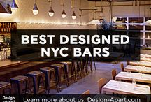 Best Designed NYC Bars / Bars about New York City with excellent interior design.