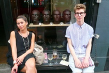 NO-ONE / The no-one shop in Shoreditch launches it's collection of Black Eyewear sunglasses with a little shin-dig.  Fun was had by all!  Guests make great models.