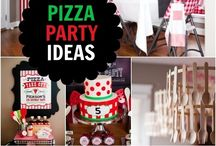 Boy's Pizza Party / Pizza | boy | birthday | party | ideas | cake | decorations | themes | supplies | favor | invitation | cupcakes| cakepops / by Spaceships and Laser Beams
