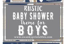 rustic babyshower
