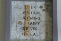 Scrabble crafts