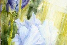 Акварельные цветы. Ирен де Лео