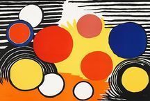 Alexander CALDER / Alexander Calder (1898 - 1976) was an American sculptor known as the originator of the mobile, a type of kinetic sculpture made with delicately balanced or suspended components which move in response to motor power or air currents.