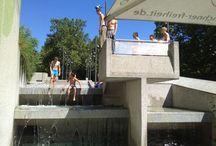 brutalist architecture in action: parcours at Münchner Freiheit