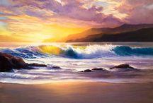 Морские пейзажи / марины, море, картины маслом