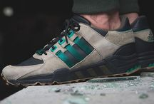 Adidas EQT Support '93 Core Black, Sub Green & HEMP / adidas performance shoes
