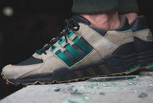Adidas EQT Support '93 Core Black, Sub Green & HEMP / adidas performance shoes