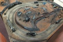 Sci-Fi Train / We're planning to build a Warhammer Sci-Fi Train layout.  Using this board to keep our inspirations and also our progress so far....