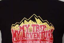 MY TRIP MY ADVENTURE / kaos pendaki gunung dan kaos pecinta alam
