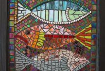 Mosaics - Fish and water creatures