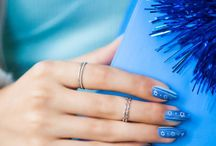 Hannukah Celebrations / The perfect manicure to light those candles with.