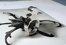 soldered silver fabricated rings / by Jane Vickers