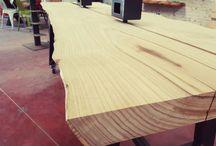 wood desk italian design #xlabdesign Wood desk scrivania in legno massello Xlab la fabbrica delle idee #xlabdesign / www.xlab.design