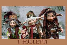 Monte dragone LMD / bambole fate folletti in porcellana