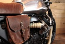 """Moto Guzzi V7 Tracker / The real """"baroudeuse"""" to hit the muddy tracks long and fast. A tracker look with smart leather parts for distinguished riders."""