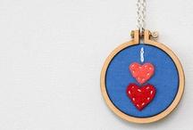 Hímzőkerettel - Embroidery hoop ideas