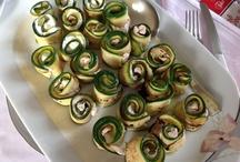 Involtini di zucchine grigliate con crudo e robiola / I Dolci di Maria Rita