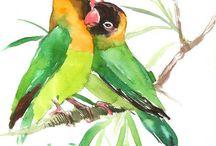 burung painting