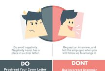 Resumes and Cover Letters / Tips and tricks for creating strong resumes and cover letters!