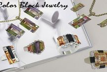 Stain Glass Jewelry Collection / Stain Glass Window Pane Collection in Color Blocks