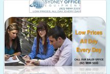 Sydney Office Equipment / Sydney Office Equipment has been the prime destination of the customers to purchase high-end office supplies in Sydney. We have been supplying paper shredder, multifunction printer and folding machine in offices since 1982.