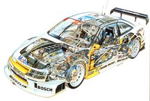Vehicle Cutaways / Collection of cutaway drawings