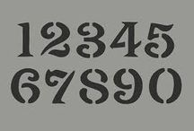 a shabby stencil fonts