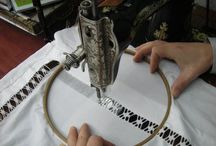 lace work on sewing machine