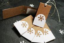 Přáníčka a jmenovky na dárky