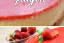 cheesecake alle fragole con gelatina sopra