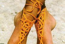 Croshet barefoot sandals