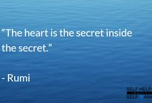 Quotes from Rumi / Silence your mind, look into your heart and hear its whispers, with #Quotes from #Rumi.