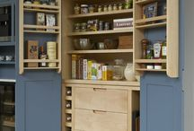 KITCHEN STORAGE IDEAS / Want to hide away all that kitchen clutter? This board has our storage solutions as well as some storage inspo!