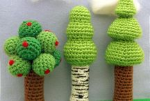 amigurumi plants / Crocheted Trees, Flowers,  cactus, Crocheted flower bulbs
