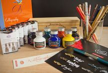 Calligraphy / Calligraphy supplies, pens, nibs, ink
