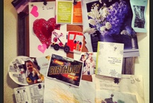 Old School Bulletin Boards  / We all love Pinterest and the fantasies it lets us live out in a virtual world. But I wanna see your REAL bulletin boards--crazy and disorganized or prim and perfect. Take a pic and pin 'em! {If you would like to be a pinner on this board, like the board and comment on one of the pins with your request. Then invite your friends to this board.}