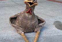 Huhn sitzt