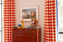 Interiors with Orange shades / Interior rooms with orange shades on wall