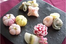 Wagashi / Kashigata  / Wagashi (和菓子)  is a traditional Japanese confectionery which is often served with tea, especially the types made of mochi, azuki bean paste, and fruits.  Kashigata are the wagashi molds.