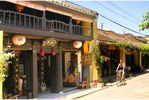 Hoian / Hoian in the center of Vietnam. From here, you can go to My Son Sanctuary, World Heritage.
